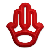 Little Standout Silicone Hamsa Hand Teething Toy - Red