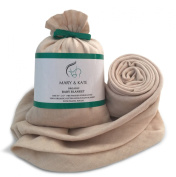Baby Gift - Organic Swaddle Blanket by Mary & Kate; Soft, Natural, Unbleached