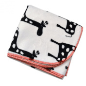 Black Giraffe - 80cm X 80cm - Lil' Whippersnapper Brand Dual-Touch Plush Baby Blanket - Perfect for Swaddling, the Stroller, & Around the House