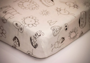 Organic Bamboo Crib Sheet, Fitted, Softest, Hypoallergenic, Breathable, Designed By Kids