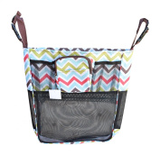 Set of Universal Fit Detachable Stroller Organiser With Deep Pocket and Zippered Case (Bundle)