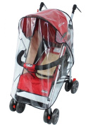 EVINIS Universal Clear Waterproof Rain Cover Wind Shield Fit Most Strollers Pushchairs