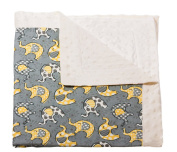 Blossoms and Buds Lil Peanut Printed Minky Dot Blanket