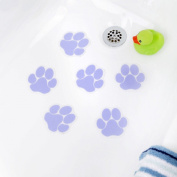 NEW Purple Paw Print Bathtub Bath Tub Treads Non Slip Applique Sticker Bathroom Mat