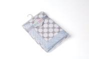 Bacati - Elephants Blue/grey Blanket2