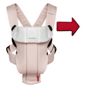 Baby Bjorn 023089USK Baby Carrier Original Light Pink And Grey One Free Safety Reflector in Red with Ergo Baby Baby Carrier