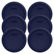 Pyrex Blue 4 Cup Round Plastic Cover #7201-PC 6-Pack by Pyrex