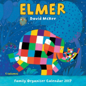 Elmer the Elephant Family Organiser Wall Calendar 2017