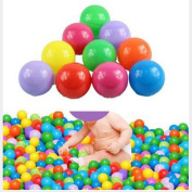 Desuper 100pcs Colourful Ball Fun Ball Soft Plastic Ocean Ball Baby Kid Toy Swim Pit Toy