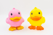 XKX Duck Brother Rubber Bath Toys,Bath-time Fun Toys,Set of 2