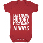 BreadandButterThreads Last Name Hungry First Name Always baby vest boys girls