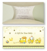 Baby Girl Boy Money Wallet Card Yellow Train Hand Crafted