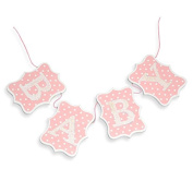 Wooden Baby Bunting pink