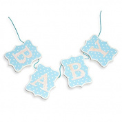 Wooden Baby Bunting Blue