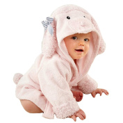 URAQT Cute Animal Baby Bathrobe Soft Hooded Towels Infant Wrap Sheep