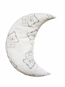 Linden 36253 Cherry Pit Pillow Moon Design Teddy Bear, Grey