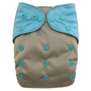 "HappyEndings ""Night, Night""» Charcoal Bamboo All In One Nappy (+Pocket & 5 Layer Charcoal Bamboo Insert) ""Storm"""