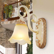 Lighting European-style garden wall lamp bedside lamp retro American rural hotel bedroom living room TV wall lamps