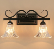 American country bathroom mirror wall lamp bedroom bedside lamp headlight lamp aisle stairs balcony