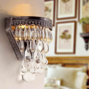 American Village luxury crystal wall lamp modern minimalist restaurant lights aisle lights bedroom bedside lamp living room