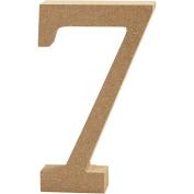 Number, H: 8 cm, MDF, 7, 1pc