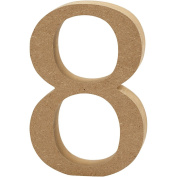 Number, H: 8 cm, MDF, 8, 1pc