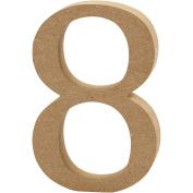 Number, H: 8 cm, MDF, 8, 1pc