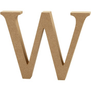 Letter, H: 8 cm, MDF, W, 1pc