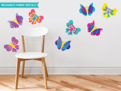Sunny Decals Butterfly Fabric Wall Decals