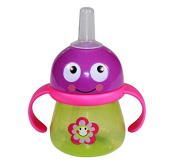 LORELLI SIPPY CUP WITH HANDLES FLOWER straw feeding bottle drinking sipper kid