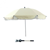 Gosear® Pushchair Baby Infant Pram Carriage Stroller Parasol Sun Protection UV Rays Umbrella Shade Off-White
