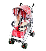 Baby Waterproof Stroller Weather Shield Rain Cover,Clear
