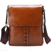 Vintage Pu Leather Messenger Bags Men Casual Leather Shoulder Bag Handbags Office Messenger Bag Crossbody Bag Brown