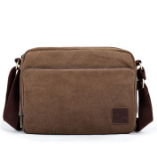 Eshow Men's Retro Casual Multifunction Canvas Cross Body Satchel Messenger Shoulder Bag Brown