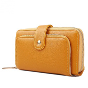 Uwant Fashion Ladies Synthetic Pu Leather Zip Detail Purse Clutch Wallet