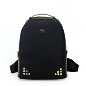 AOTIAN Women Backpack Faux Leather With Lightwight Nylon Travel Casual Daypack Cute Small Shoulder Bag Handbag Decorate Rivets for Teenage Girls