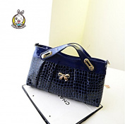 Hollwald®High Quality Women Patent Leather Crocodile Pattern Casual Cross Handbags OL Working Patent Leather Shoulder Bag Handbag Messenger bag
