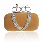 Luxury Velvet with Bling Bling Rhinestones Evening Party Handbag Purse clutch Bags for Prom Cocktail Party Wedding Engagement