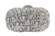 Yilongsheng Dazzling Thick Leaves Evening Bags with Shiny Crystal Rhinestones for Ladies