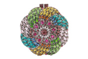 Yilongsheng Round Flower Bags with Bright-coloured Crystal Rhinestones for Ladies