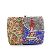 Chirrupy Chief Eiffel Tower Pattern Diamond Clutch Handbag Prom Shoulder Clutch Bag