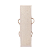Demarkt Natural Loofah Exfoliating Back Scrubber Back Strap use for Facial Exfoliator Pad
