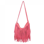 iTECHOR Fashion Tassel Suede Fringe Single Shoulder Bag Cross body Bag for Girls and Women