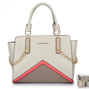 New Designer Brand Ladies Womens Medium Size Tonal Colours Fashion Handbags Golden Chain Shoulder Tote Spring 2016 Bags