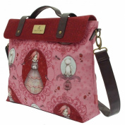 Santoro Mirabelle Satchel - Traveller's Rest 40cm wide, 28cm high and 8cm deep.