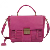 RI2K Kingsland Pink Orchid Genuine leather Satchel Bag