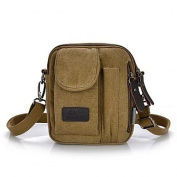 ZY Unisex Casual Canvas Zipper Crossbody Bag Messenger