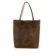 Itslife Women's Crazy Horse Leather Top-handle Tote Shoulder Bag