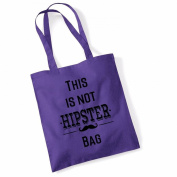 """Women's Gift Idea 100% Cotton """"This Is Not A Hipster"""" Funny Beach Printed Tote Bag Canvas"""