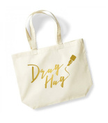 Drag Hag - Large Tote Bag - Canvas Travel/Shopper/Gym Bag - RuPaul's Drag Race - Available in Natural & Black